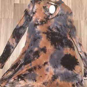 Keyhole Tie-Dye dress
